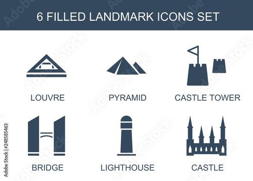 Foto  6 landmark icons