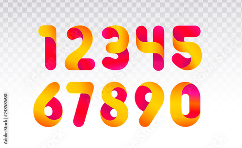 Cuadros en Lienzo Set of numbers from 0 till 9