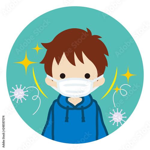 flu virus mask