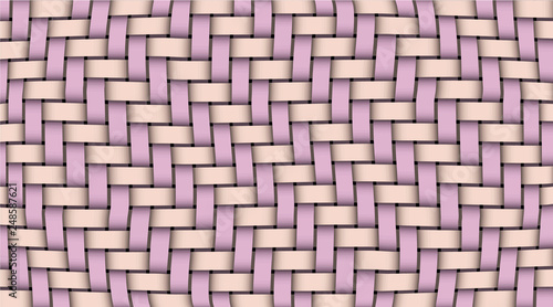 Fotografiet  Pink violet realistic rattan woven background