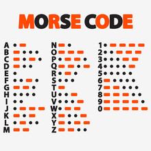 Morse Code. International Method Of Text Coding.