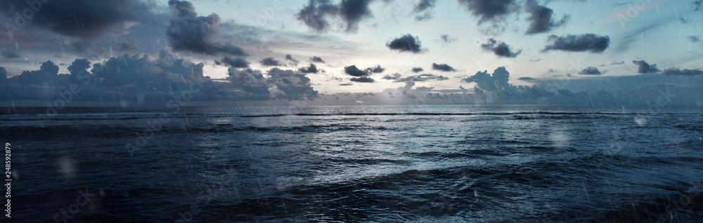 Fototapeta Stormy sea panorama