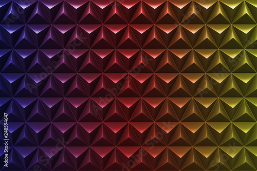 Foto op Aluminium ZigZag Abstract 3D minimalistic geometrical background of triangles