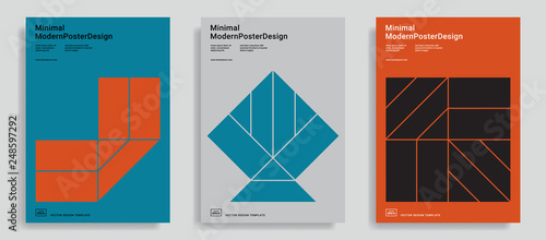 Photo Design templates with simple geometric shapes.
