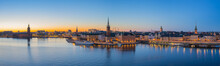 Stockholm Skyline At Twilight ...