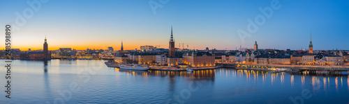 Foto auf Gartenposter Stockholm Stockholm skyline at twilight in Stockholm city, Sweden