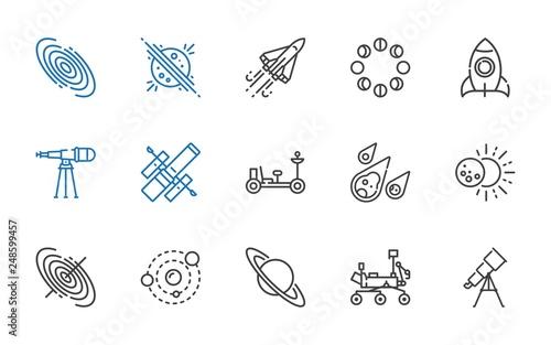 cosmos icons set