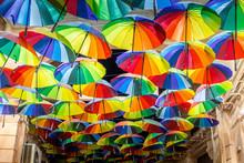 Decorative Umbrellas In The St...