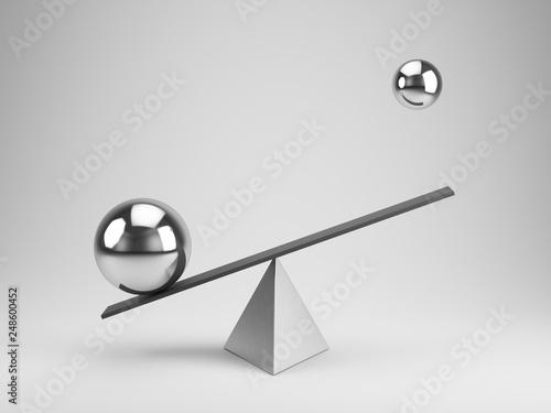 Fényképezés  Balance concept - 3d rendering