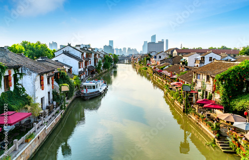 Fotomural Historic scenic old town Wuzhen, China