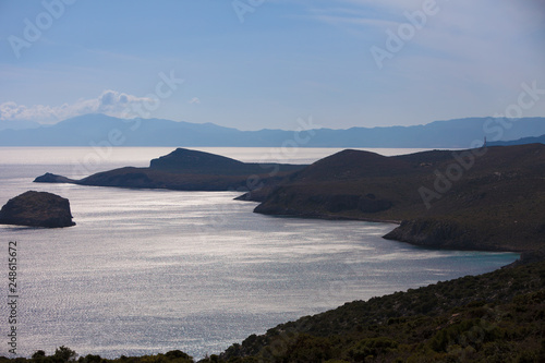 Cadres-photo bureau Cote View from distance on sea greek islands