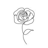 ikona linii róży