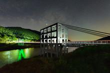 The Twin White Suspension Bridge At Mae Kuang Dam Or Mae Kuang Udom Thara Dam The Landmark In Doi Saket ,Chiang Mai, Thailand.