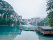 Lago di Braies in the Dolomites, Italy