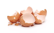 Cracked Egg Shells Isolated On...