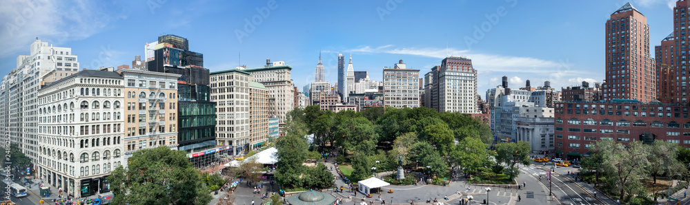 Fototapety, obrazy: Amazing panoramic aerial view of Union Square at New York City. USA
