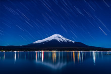 Nightview Of Mount Fuji With S...