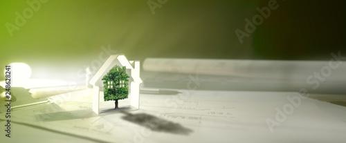 Obraz immobilier,écologie - fototapety do salonu