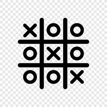 Tic Tac Toe Icon On Transparen...