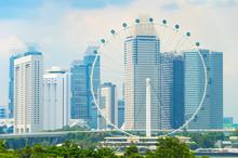 Singapore Cityscape, Ferris Wh...