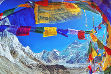 View Of Mount Everest And Nupt...
