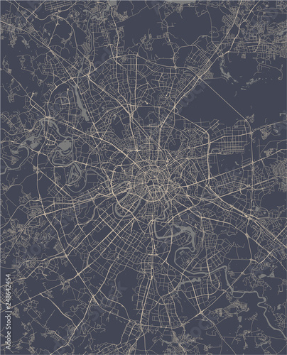 Fototapeta map of the city of Moscow, Russia