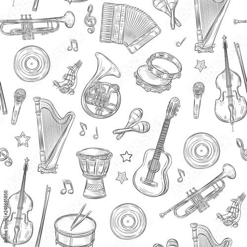 Fotografía Music seamless pattern