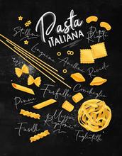 Pasta Italiana Poster Chalk