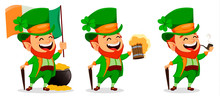 Saint Patrick Day. Cartoon Character Leprechaun