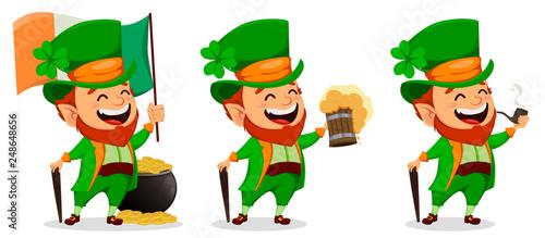 Fotografia Saint Patrick day. Cartoon character Leprechaun