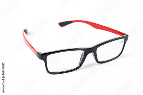 Foto  Dioptric glasses with rubber at the end of temples to prevent slipping