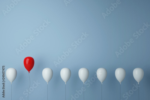 Obraz Stand out from the crowd concept with balloons - fototapety do salonu