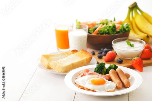 Fototapeta 朝食 イメージ Breakfast image obraz