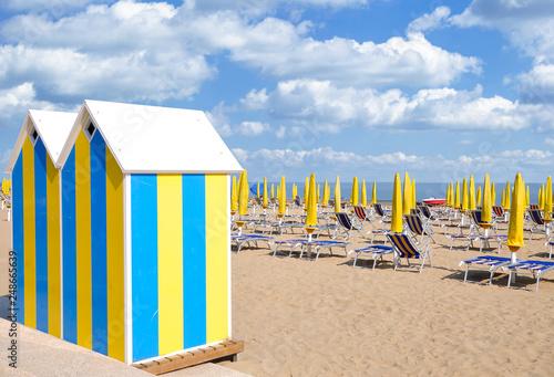 am Strand im Badeort Lido di Jesolo an der Italienischen Adria,Venetien,Italien Canvas Print