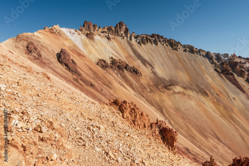 steep volcano slope Canvas Print