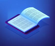Open Ebook On Digital Tablet S...