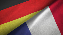 Germany And France Two Flags T...