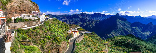 scenic Artenara - Gran Canaria's highest mountain village. Canary islands
