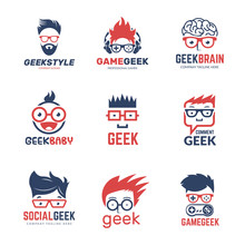 Geek Logo. Business Identity O...