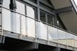 Leinwandbild Motiv Balcony railing made of glass and stainless steel