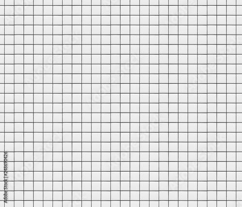 Fotografía  Small white square mosaic tiles texture background