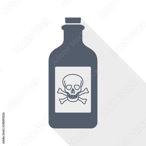 Fotografía poison bottle icon, vector illustration
