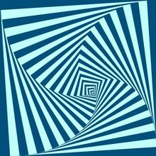 Vector Optical Illusion Background. Geometric Blue Vortex