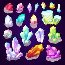 Gemstone Crystals And Jewel Gem Stones