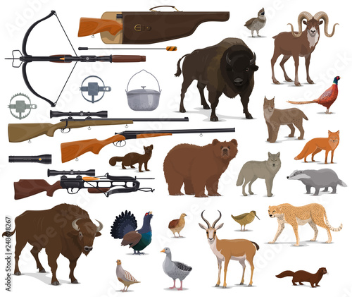 Hunting ammo, hunter trophy animals Canvas-taulu