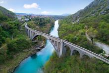 Solkan Bridge Over Soča River