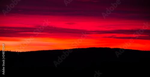 beautiful dramatic sunset view