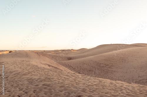 Foto  Dünen aus Sand in der Wüste