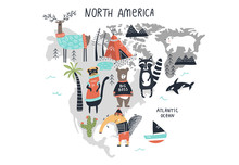 Animal World Map - Mainland No...