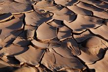 Marokko, M`Hamid, Wuestenlandschaft Im Morgenlicht, Strukturen Im Sand